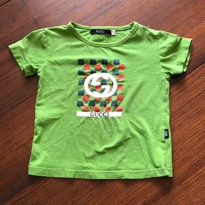 Green Gucci tshirt - kids